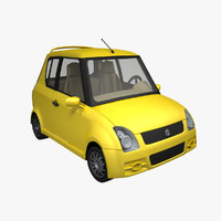 3ds max cartoon car suzuki swift