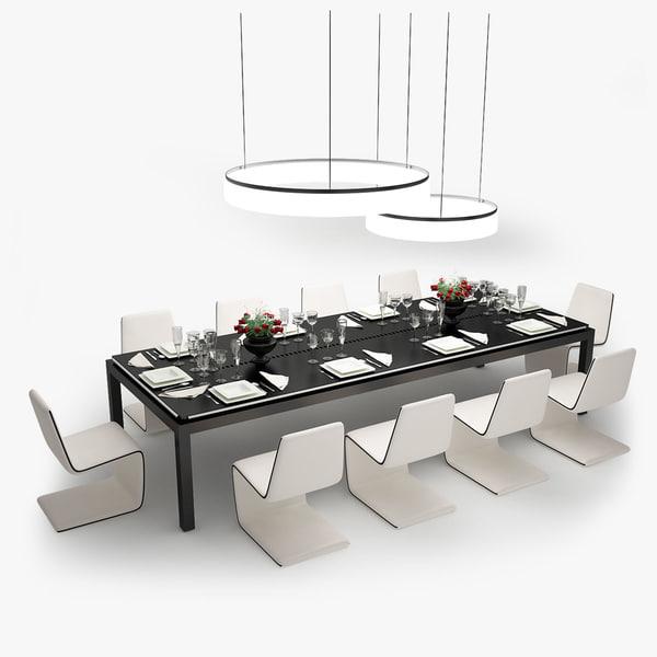 tresserra table dining set obj