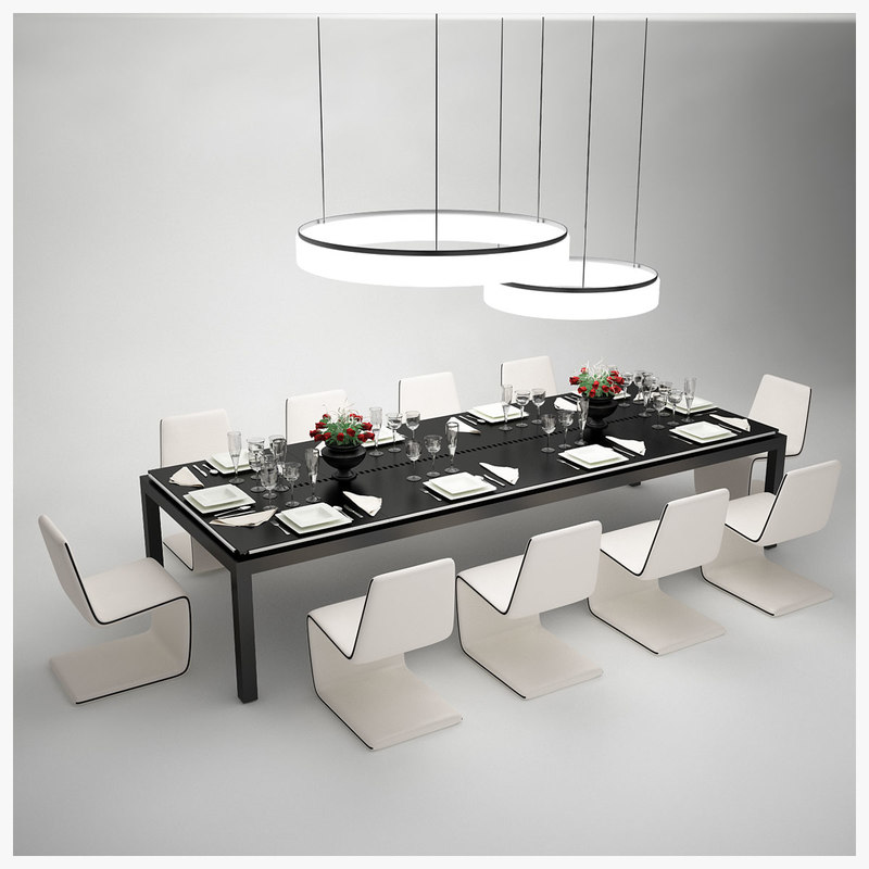 tresserra table dining set obj