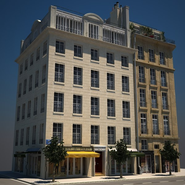 3ds max apartment buildings hd 01