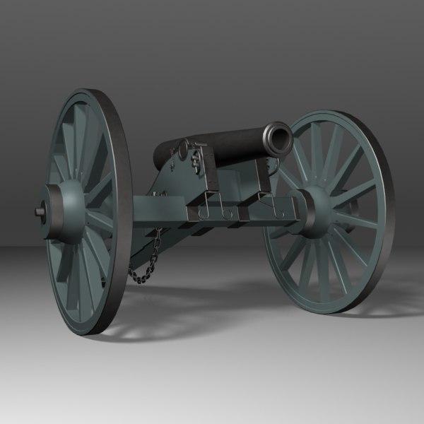 3d model gun napoleon cannon