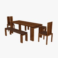 Channel Dining Table Chair Bench
