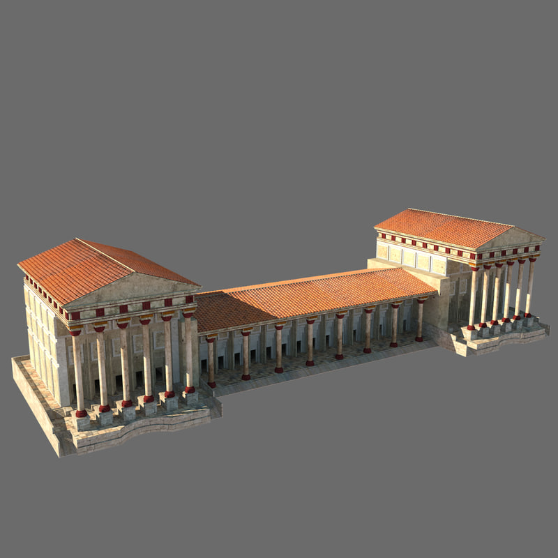 3ds max ancient greek palace