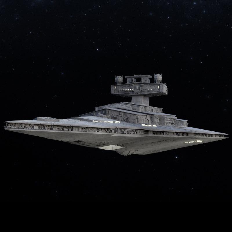 star destroyer 3d obj