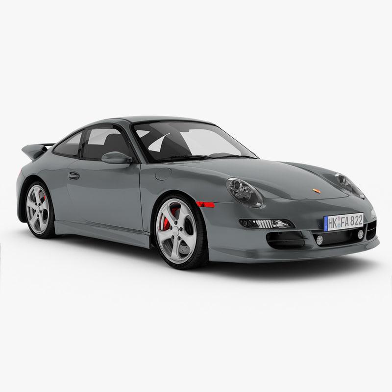porsche 911 sport vehicle car 3d model