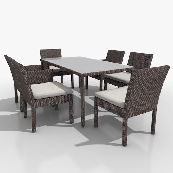 3d garden patio furniture set model. Black Bedroom Furniture Sets. Home Design Ideas