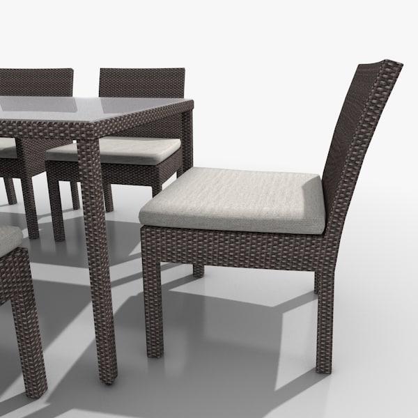 3d Garden Patio Furniture Set Model