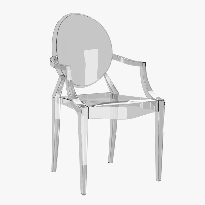 louis ghost chair 3d model