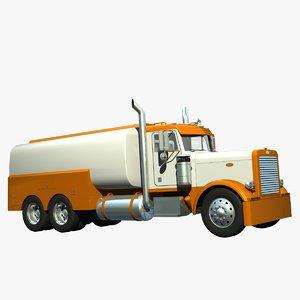 359 tanker truck 3d lwo