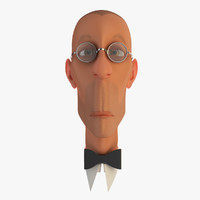 3d funny head cartoon