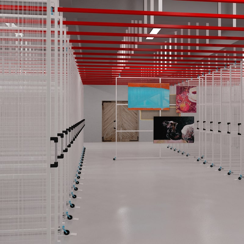 3d museum artestore store model