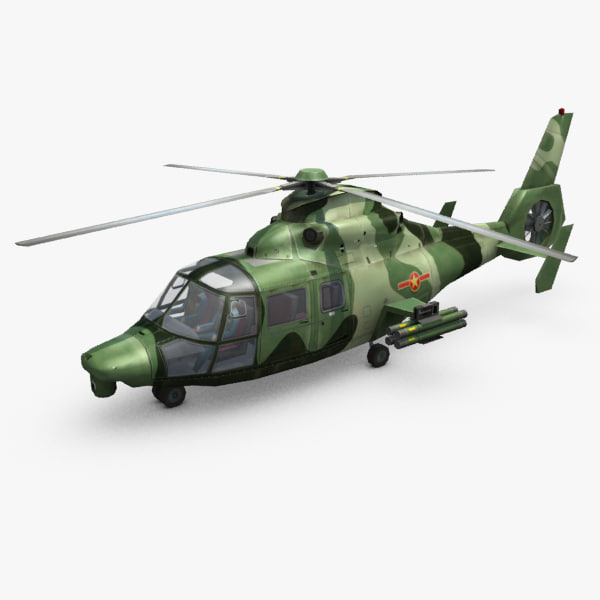 3d harbin z9 attack helicopter