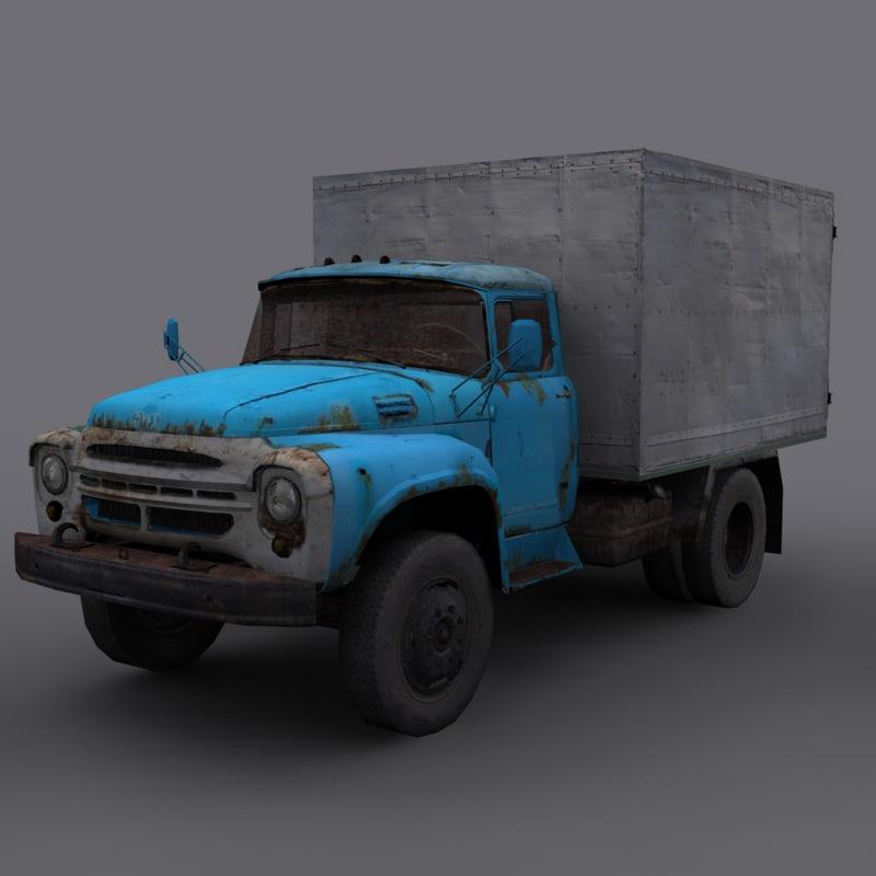 zil-130 truck 3d 3ds