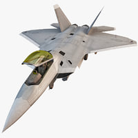 F-22 Raptor 4 Rigged