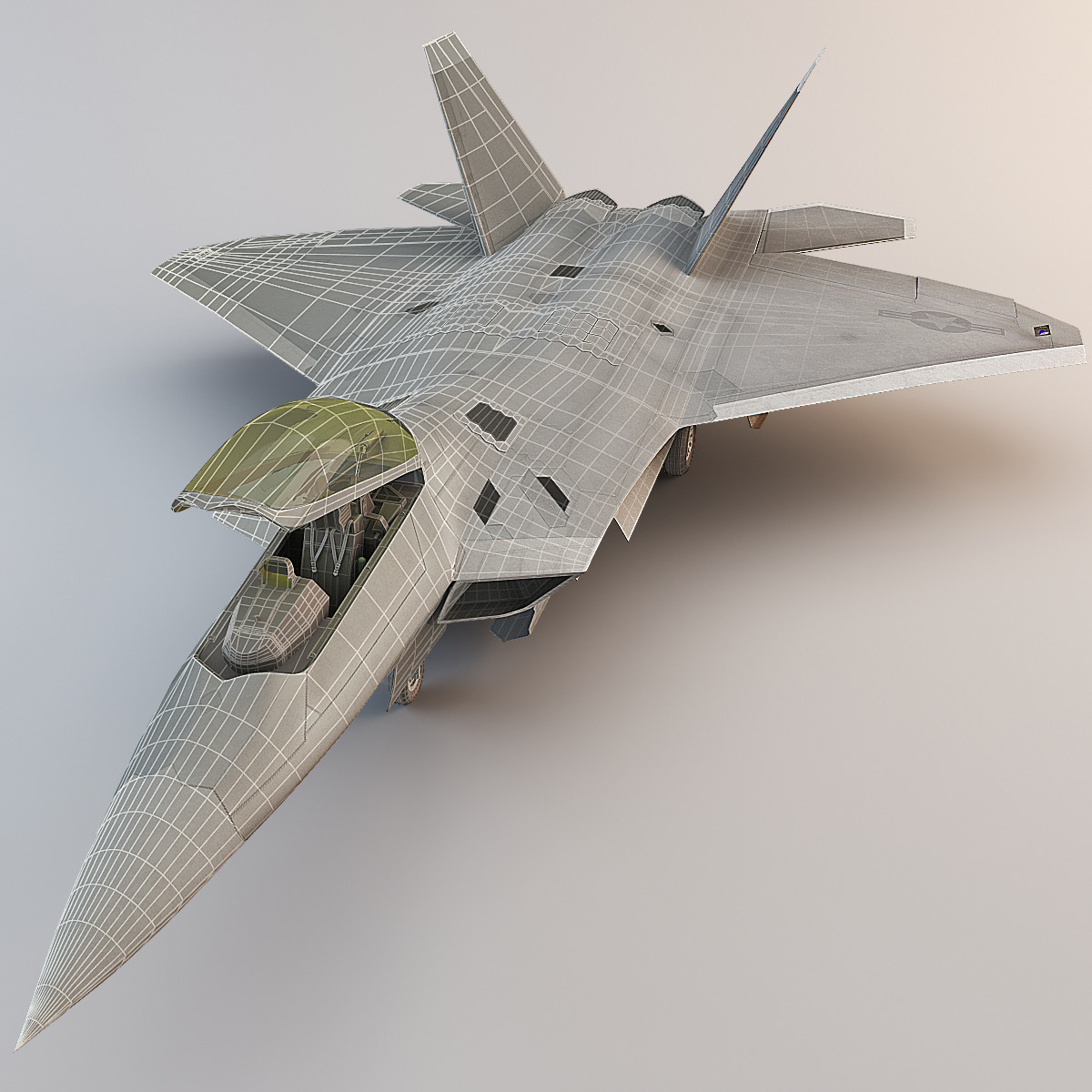 max f-22 raptor 4 rigged