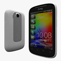 3d model htc explorer white