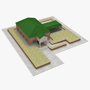 realistic police dept station 3d model