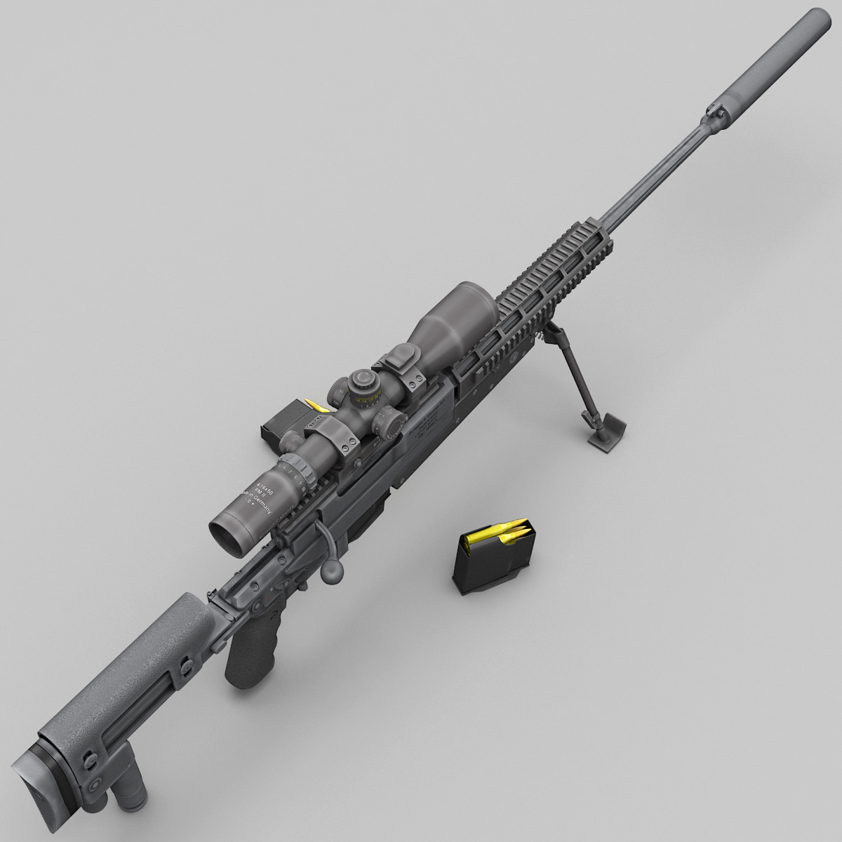 precision rifle apr 308 3d max