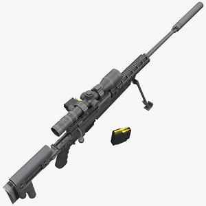 precision rifle apr 308 3d max