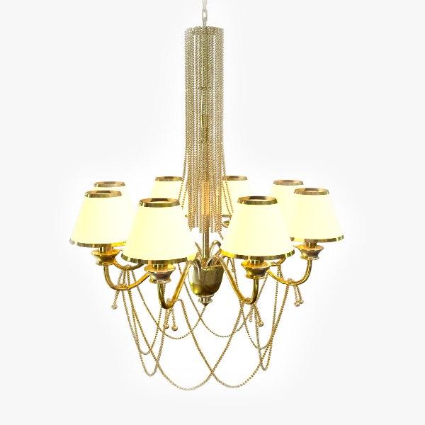3d luster lamp lighting