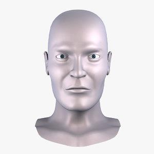 male head sculpting 3d model