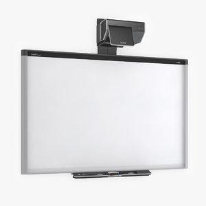 smart board 885ix whiteboard 3d model