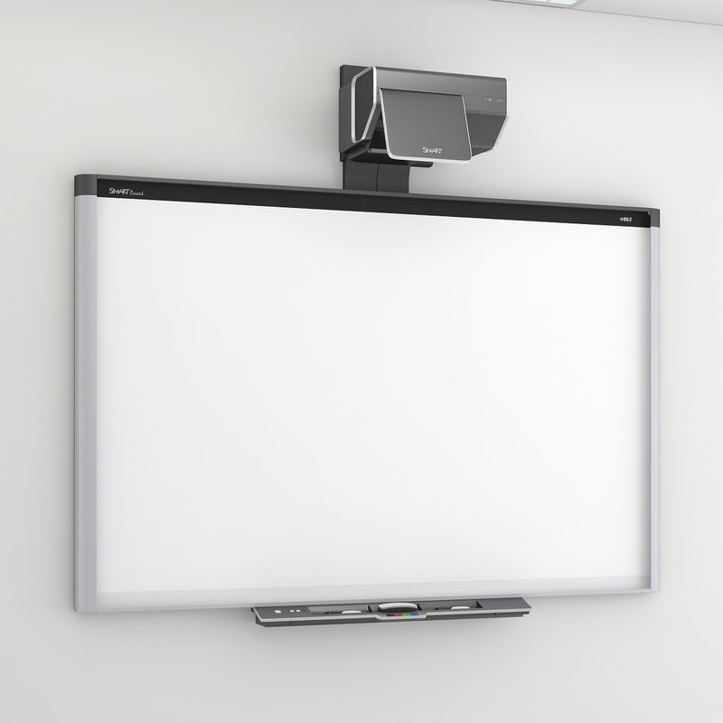 smart board 885ix whiteboard 3d model