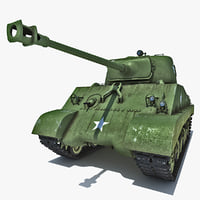 m4 sherman world war 3d model