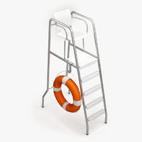 lifeguard chair 3d 3ds