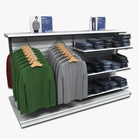 3d model clothing display mens sweaters