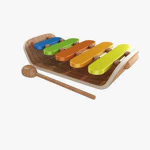 3d model toy music xylophone
