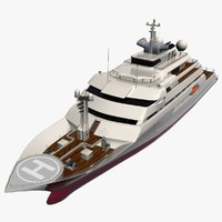 mega yacht 3d model