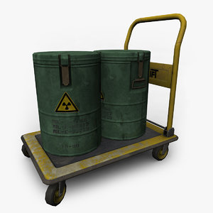 3d model trolley barrels