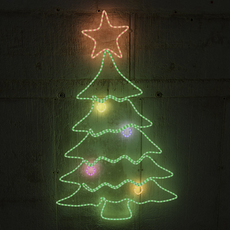 3d christmas led tree