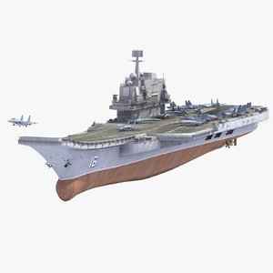 3ds max chinese cv16 liaoning aircraft carrier