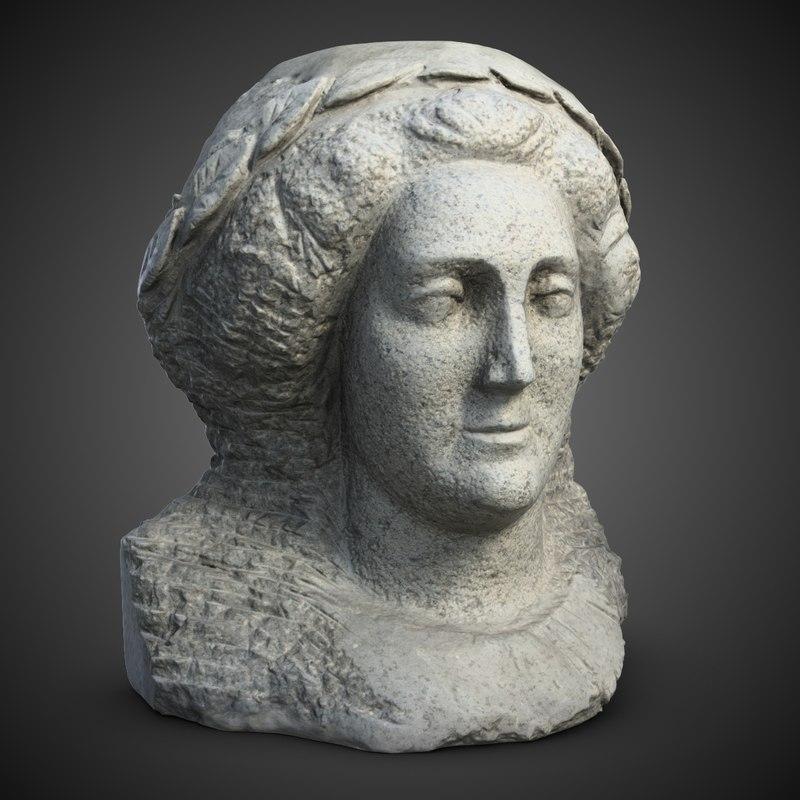 3d catherine sculpture