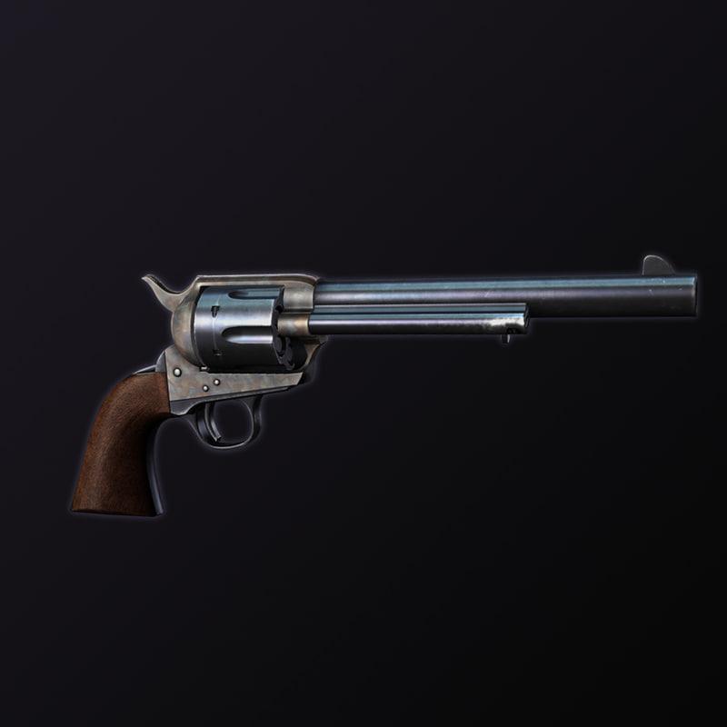 3d model 1873 colt single action