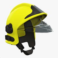 firefighter helmet v4 3d lwo