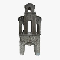 3d model ruined gate