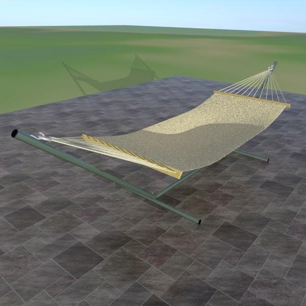 hammock stand 3d model