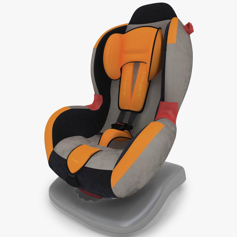 kiddy car seat elegant 3d max