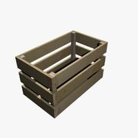 crate slates 3d model