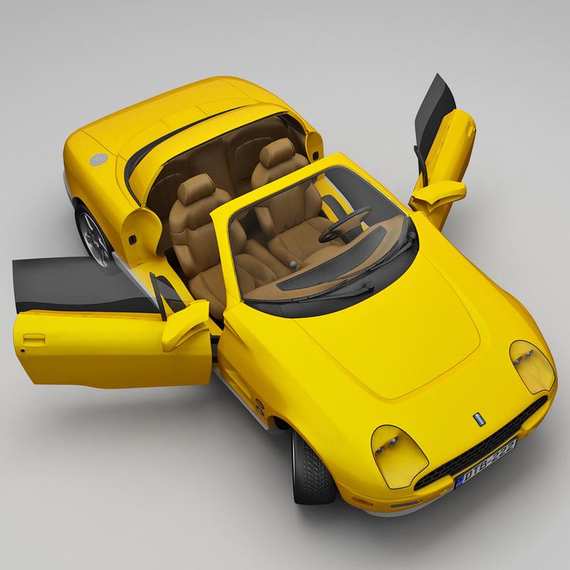 realistic sports car tomaso 3d obj