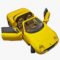 realistic sports car tomaso 3d obj