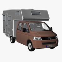 t5 camper crew cab 3d 3ds