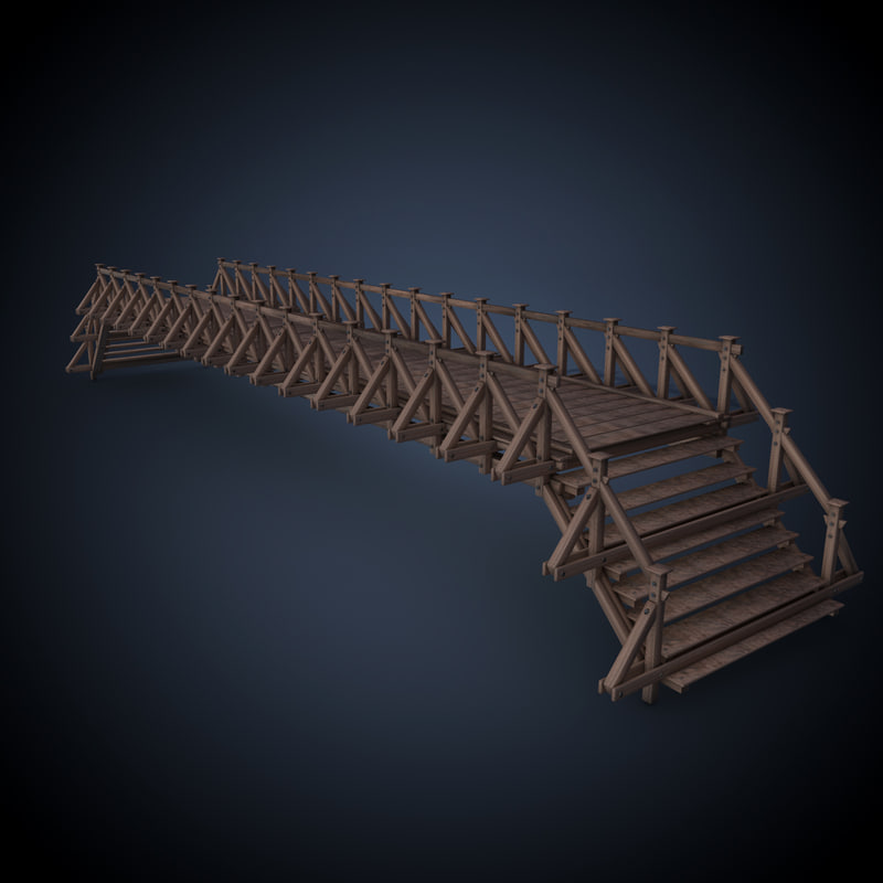 wooden bridge c4d