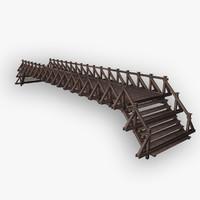 wooden bridge c4d