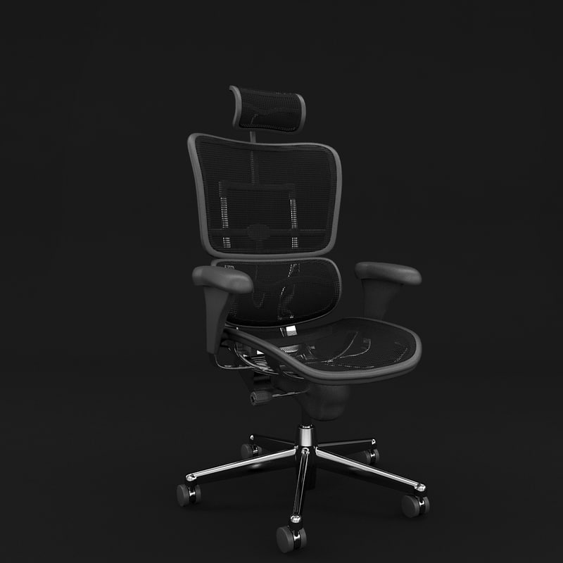 ergohuman office chair 3d model