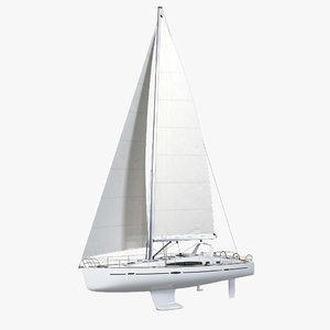 beneteau oceanis 50 yacht 3d model