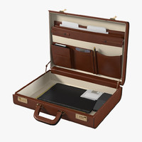 Getty Working Leather Briefcase
